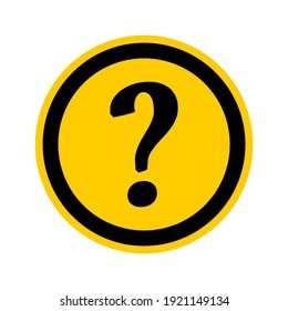 Question Mark Round Problem, Support or Help Icon. Vector Image.