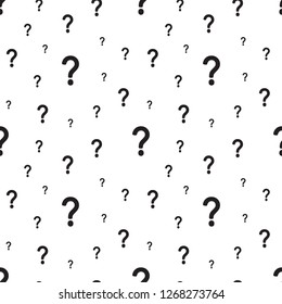 The question mark seamless pattern