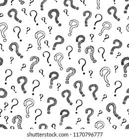 Question Mark Seamless Pattern Vector Background