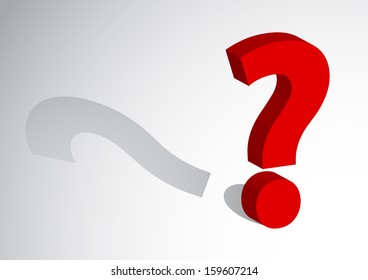 question Mark with shadow vector images