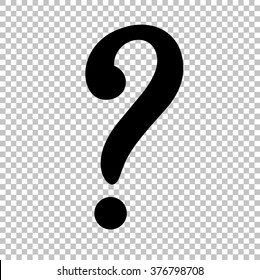 Question mark sign. Flat style icon on transparent background