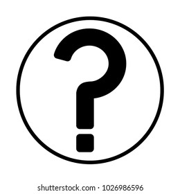 Question mark sign icon. Help symbol. FAQ sign. Flat design style. EPS 10. template