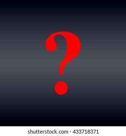 Question mark sign icon. Help symbol