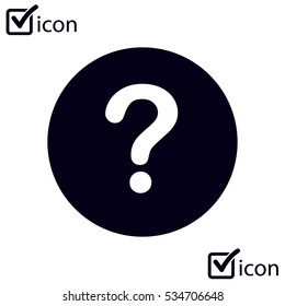 Question mark sign icon. Help symbol. FAQ sign. Flat design style. EPS 10.