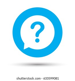 Question mark sign icon. Help speech bubble symbol. FAQ sign. Copy files, chat speech bubble and chart web icons. Vector