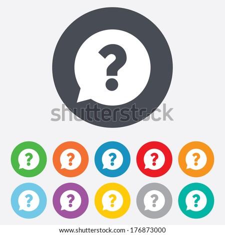 question mark sign icon help speech のベクター画像素材