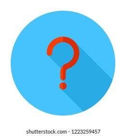 Question mark sign icon, vector illustration. FAQ button. Asking questions. Ask for help. Question mark stamp. Need information. Query.