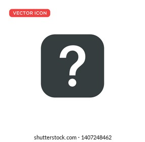 Question Mark Sign Icon Vector Illustration Design