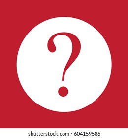 Question mark sign on red background