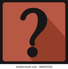 Question mark sign Vector  icon