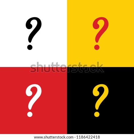 Question Mark Sign Vector Icons German Stock Vector Royalty Free