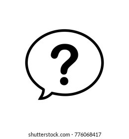 question mark in a speech bubble icon