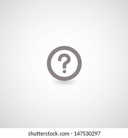 question mark symbol on gray background