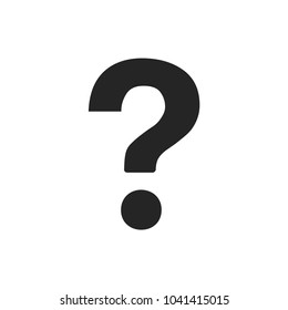 Question mark vector icon, ask symbol. FAQ and help pictogram, flat vector sign isolated on white background. Simple vector illustration for graphic and web design.