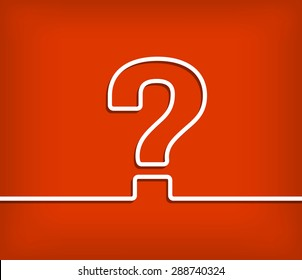 Question mark vector with red background illustration