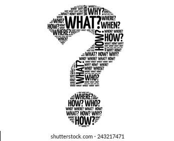 Question mark, Question words vector concept