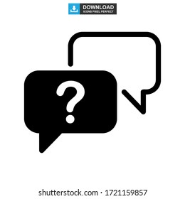 question support icon or logo isolated sign symbol vector illustration - high quality black style vector icons