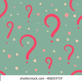 Question symbol seamless pattern. Vector stock