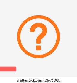 question vector icon