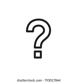 Question vector icon, help symbol, question mark in trendy flat style