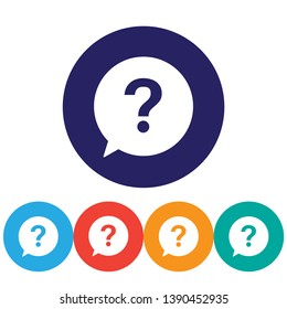 Question vector icon , lorem ipsum Flat design