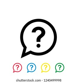 question vector icon on white background