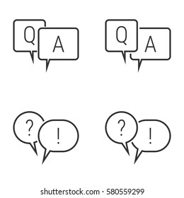 Questions and answers icons