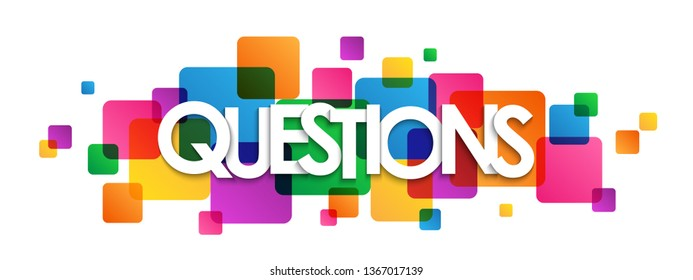 QUESTIONS colorful typography banner