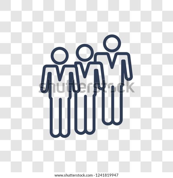 Queue Icon Trendy Linear Queue Logo Stock Vector (Royalty