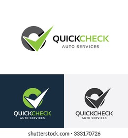 Quick Check,automotive logo,auto logo,vector logo template