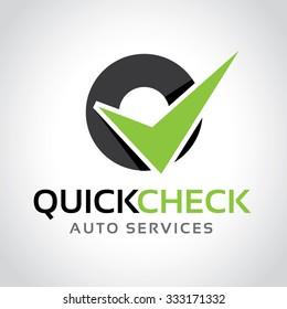 Quick Check,automotive logo,auto logo,vector logo template