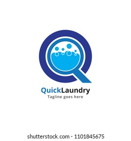 Quick, clean and modern logo template perfect for a wide range of dry cleaning & laundry businesses.