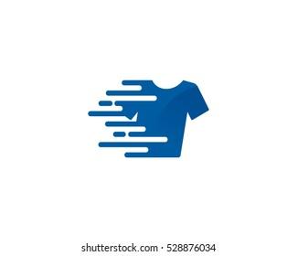 Quick Laundry Logo Design Template