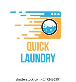 Quick Laundry with Orange Blue Color