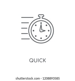 Quick linear icon. Quick concept stroke symbol design. Thin graphic elements vector illustration, outline pattern on a white background, eps 10.
