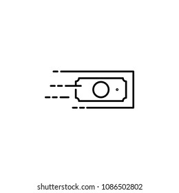 quick money transfer icon. Element of speed for mobile concept and web apps illustration. Thin line icon for website design and development, app development. Premium icon on white background