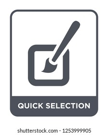 quick selection icon vector on white background, quick selection trendy filled icons from Geometry collection, quick selection simple element illustration