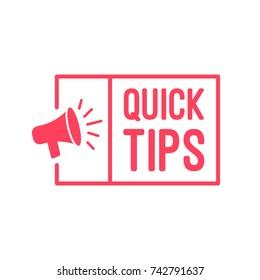 Quick Tips-Megaphone-Label