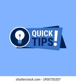 Quick Tips Megaphone Vector Illustration