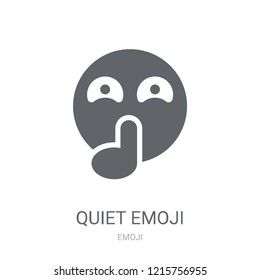 Quiet emoji icon. Trendy Quiet emoji logo concept on white background from Emoji collection. Suitable for use on web apps, mobile apps and print media.
