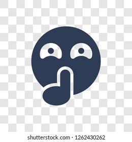 Quiet emoji icon. Trendy Quiet emoji logo concept on transparent background from Emoji collection