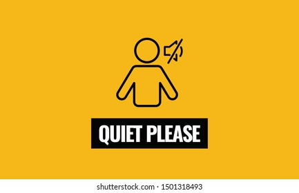 Quiet Please Vector Sign Board
