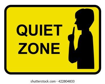 Quiet zone concept vector yellow background