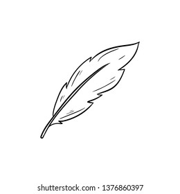 Quill doodle vector drawing