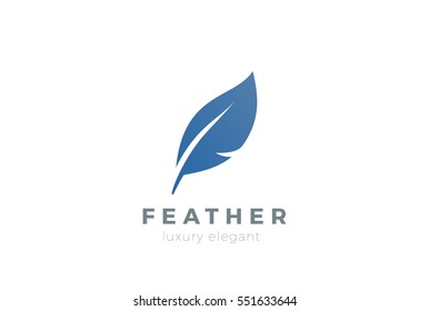 Quill Feather Pen Logo design vector template. Law, Legal, Lawyer, Copywriter, Writer, Stationary Logotype concept icon.