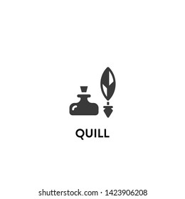 quill icon vector. quill vector graphic illustration