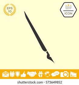 Quill pen, fountain pen icon