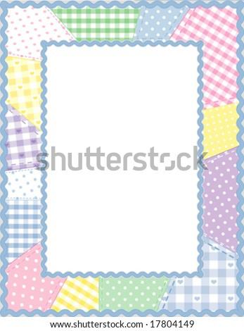 Quilt Patchwork Frame Design Pattern Pastel Stock Vector (Royalty ...