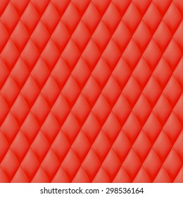 Quilted seamless pattern. Red color vector illustration.