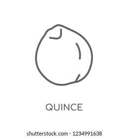 quince linear icon. Modern outline quince logo concept on white background from Fruits and vegetables collection. Suitable for use on web apps, mobile apps and print media.